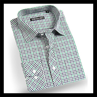 Customise check pattern long sleeve 100% cotton shirt design for promotion