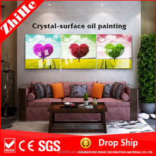 fabric painting designs on table cloth with canvas print of decoration home for bedroom