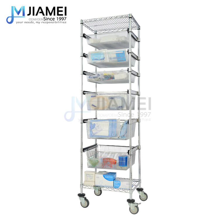 8 Tiers NSF Hospital Basket Shelf