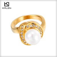 24k pure solid gold plated dubai wedding rings jewelry