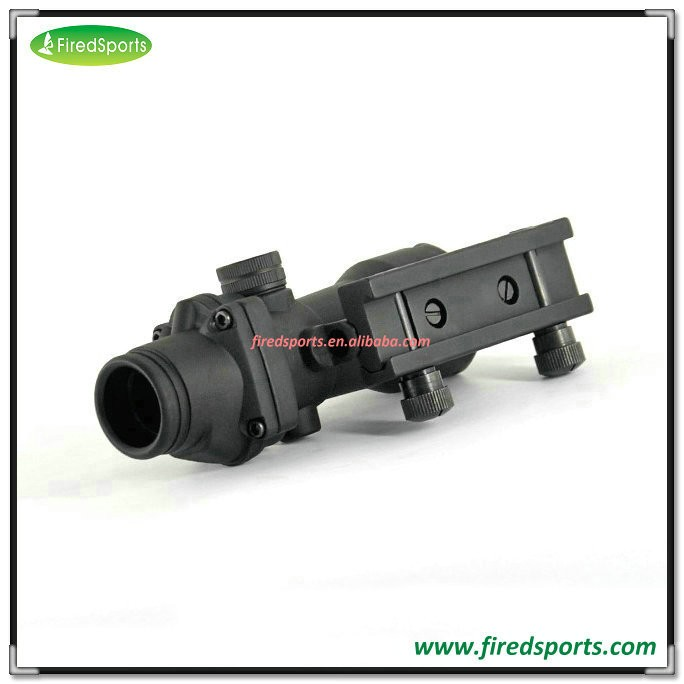 GSP0206-G--Hot sell high quality Trijicon ACOG 4x32 green Scope/Dot Reticle and BDC with TA51 Flattop Mount
