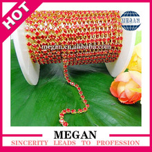 Rhinestone beaded chain roll pearls cup chain roll for sandals