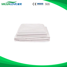 Hotel Supplies plastic disposable terry bed sheet for hospital