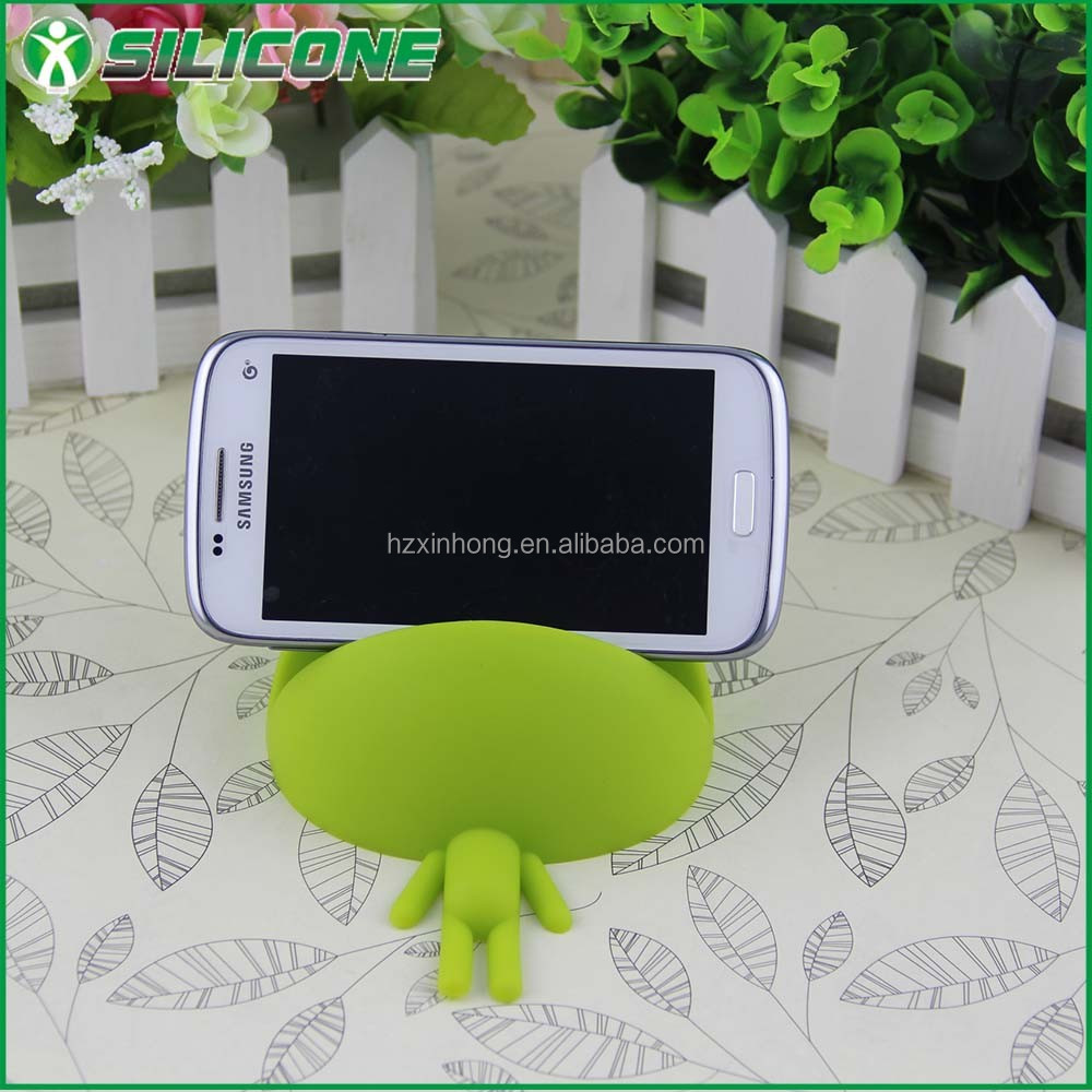 Funny silicone rubbre phone stand mobile holder hand cell phone holder