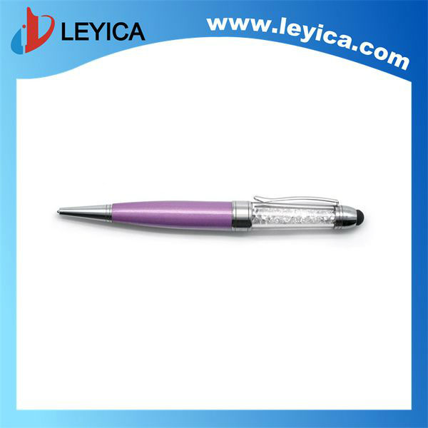 3in1 crystal stylus ballpoint pen with USB - LY-S036