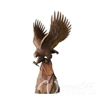 2015 hot sale bronze outdoor eagle statues
