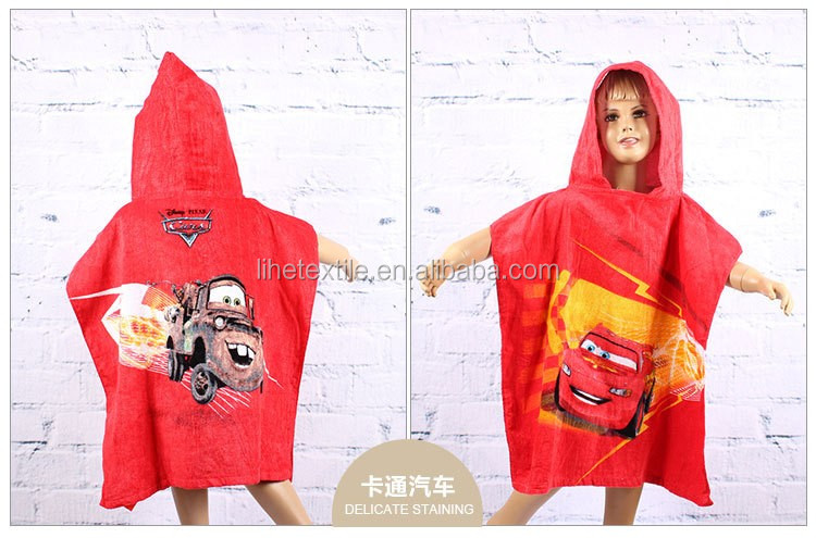 Hooded Cartoon Animal Towels Poncho Kids Beach Towel