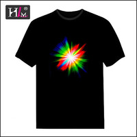 2015 Latest china supplier deadmau5 light up led t shirt for sale