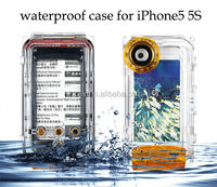 Waterproof Photo Housing 40m/130ft Rated Underwater Diving professional camera submersible protective case for iphone 5 5s