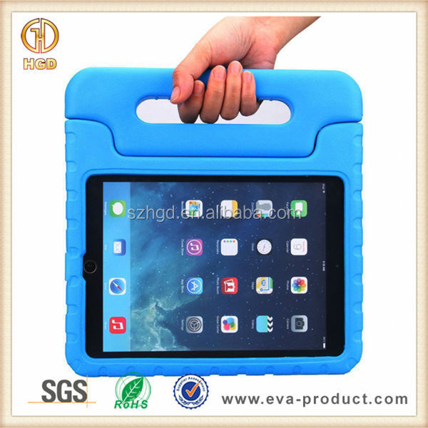 Kids shock proof EVA tablet back cover for ipad air 2 silicone case