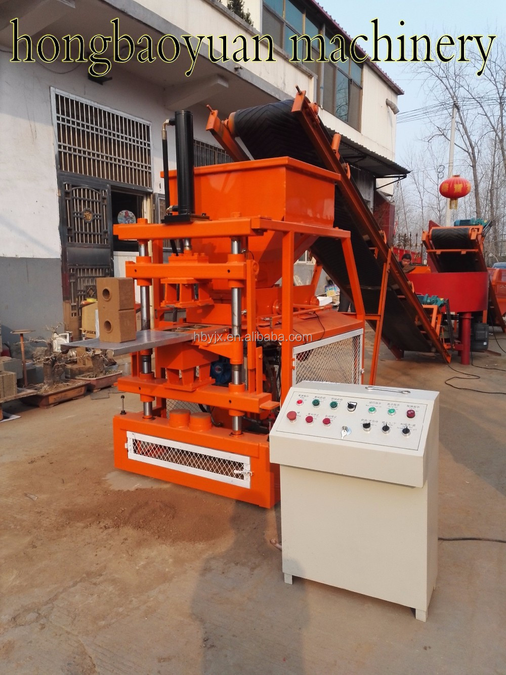 Red brick factory for HBY2-10 soil brick machine automatic mud brick making machine