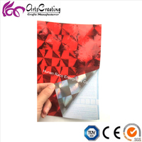 adhesive holographic wallpaper free sample hologramphic foil contact paper