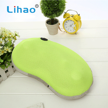 LIHAO Chinese Factory Customized PU Material Electric Neck Vibrating Massage Pillow