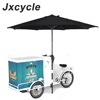 Customized mobile ice cream tricycle freezer