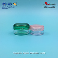 10ml transparent PS material cosmetic cream jar