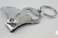 laser logo or rubber drop strong high quality key chain nail clipper for wholesale