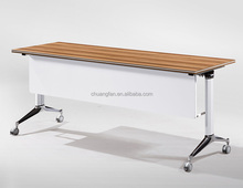 Simple Style Movable Wooden Furniture Training Room Foldable Table Training Desk