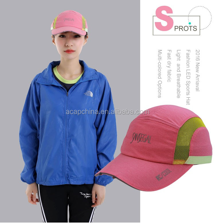 Light Weight Waterproof Sports Cap With Built-In Led Light