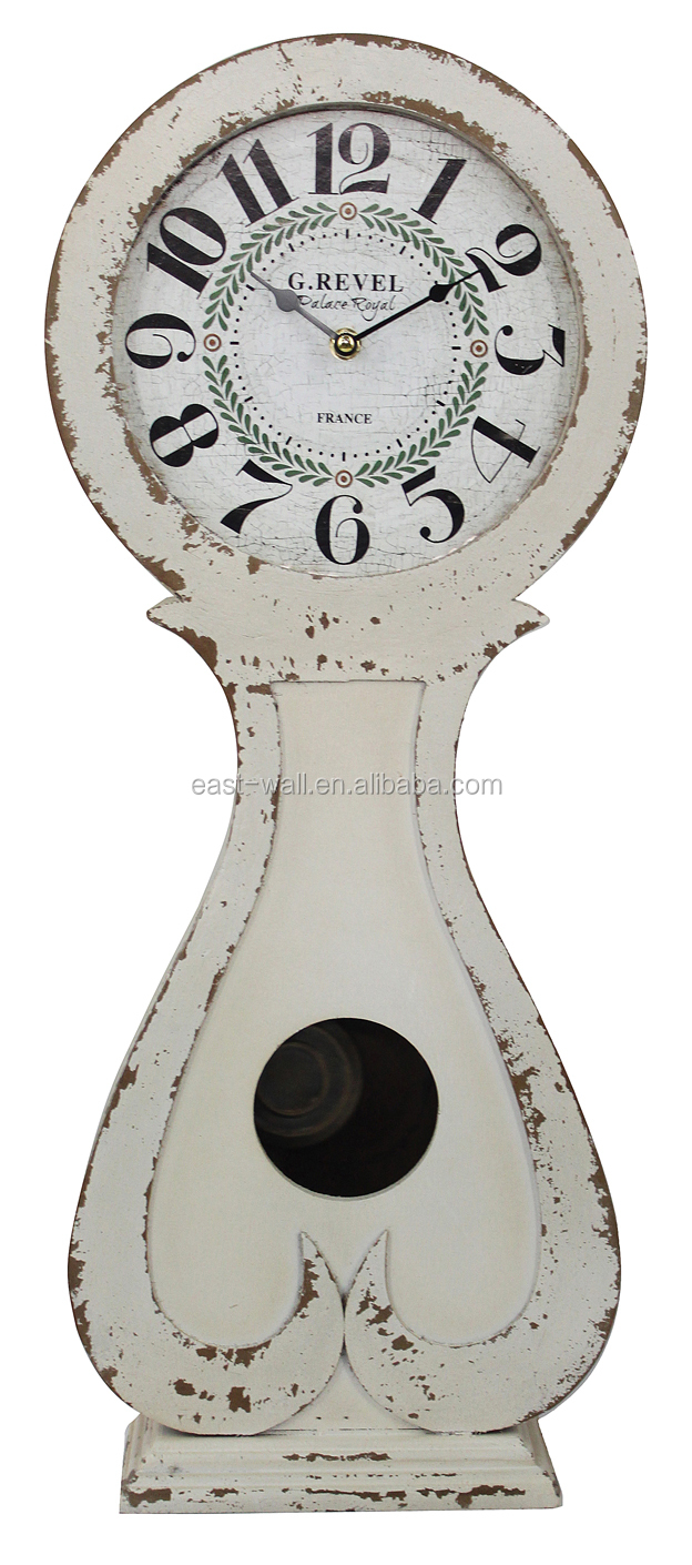 antique white french country style wooden sway clocks