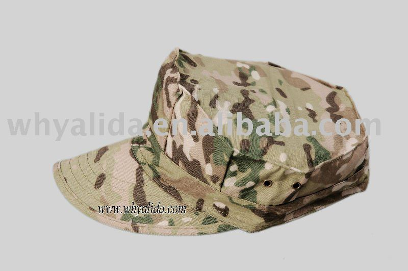 T/C 65/35 Camouflage Military Army Blend CP Garrison Cap Twill/Ripstop