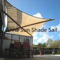 220g/m2 3.6x3.6x5.1 M/PCS Triangle Sun Shade Sail with UV protection