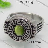 Stainless Steel Classic Men Jewelry Hottest Powellfemale lady gemstone finger amethyst ring