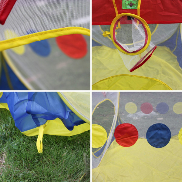13196138B-38.97 x 37.80 x 36.22 in Children Games House Tent Mixed Colors