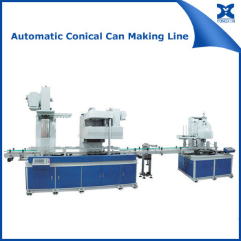 Automatic conical pail can machinery equipment