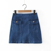two pocket casual shirt for women wholesale short denim skirts