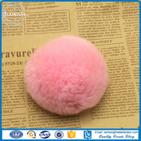 Real Colorful Rex Rabbit Fur Pom Poms /Genuine fur Rex Rabbit fur ball