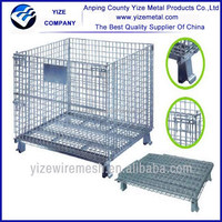 Best-selling Material handling equipment warehouse storage cage bins with wheels