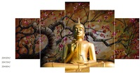 Latest new products of buddha oil painting on canvas in 2016