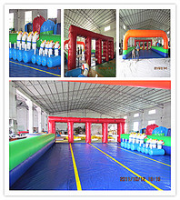 inflatable horse race sports games racing arch entrance door for sale