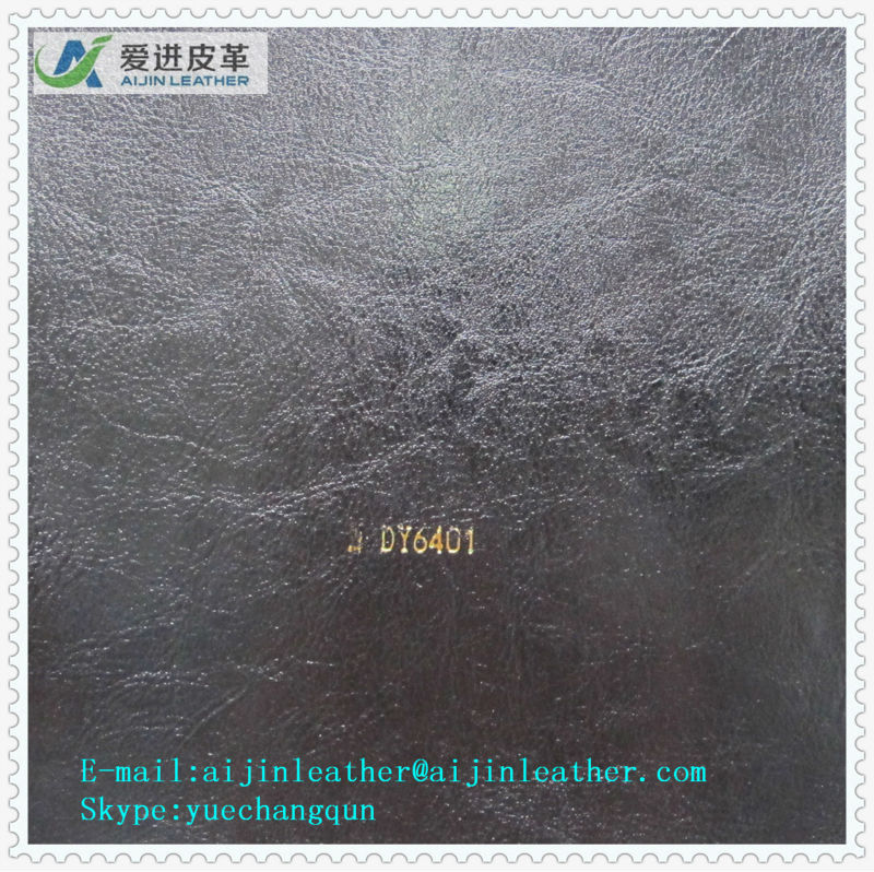 PU/PVC Pigskin Synthetic Leather For Furniture
