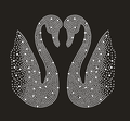 Shining Elegent Swan Hot fix Crystal Rhinestone Design for T-shirt