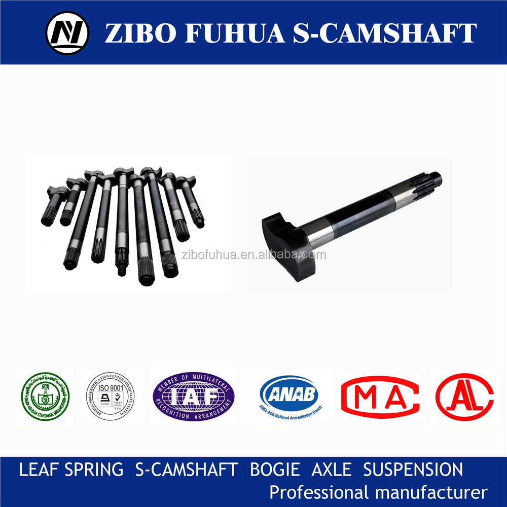 Involute splines camshaft for trailer axle brake Chassis Accessories