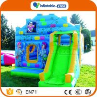 Bottom price christmas inflatable slides cheap inflatable minion slide