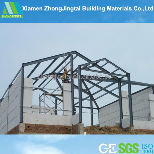 EPS sandwich panel with structure warehouse drawings with ISO certificated