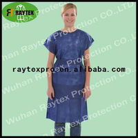 disposable PP 30g dark blue medical gowns with short sleeves