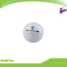 Customized logo high quality two-piece golf range ball