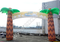 Advertising inflatable palm tree entrance arch