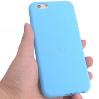 PLAIN SOFT SILICONE GEL RUBBER SKIN CASE BACK COVER FOR APPLE for IPHONE 6 4.7INCH
