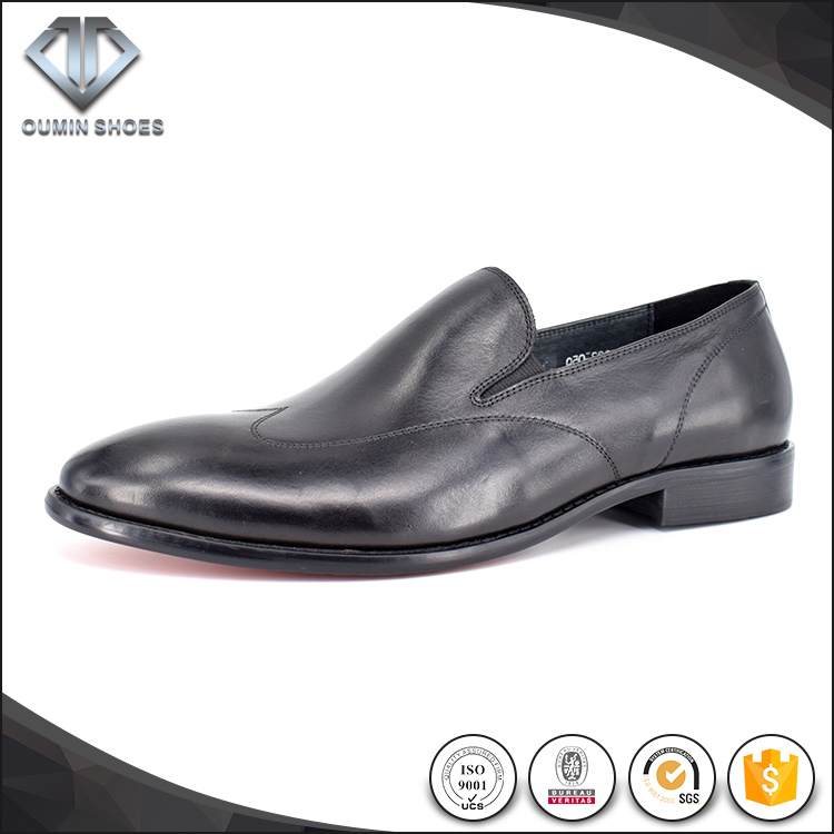 Classic all black Italian leather formal shoes dress shoes men on sale