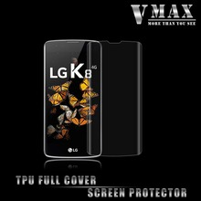 high quality Ultra clear full cover TPU screen protector film for LG K8