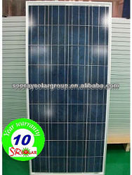 Inmetro certificate high efficiency solar cells(156*156mm) Poly 100-150W pv Solar panel