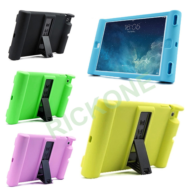 Soft Shockproof Stand Case for iPad AIR 2 Protective Cover for Children Kids Students Foam Designed for iPad 6 Case