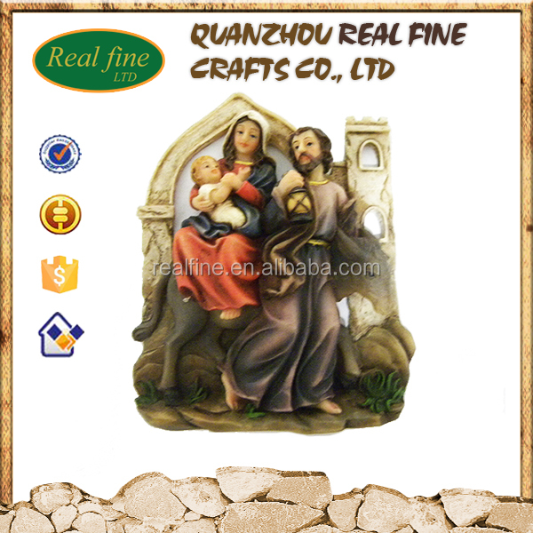Wall decoration catholic religious sculptures
