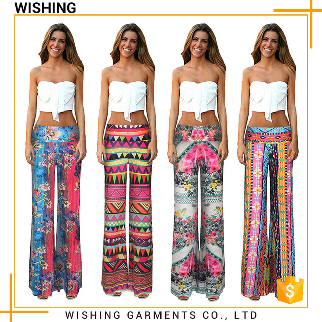 Factory direct sales all kinds of trousers women chevron ladies loose pants