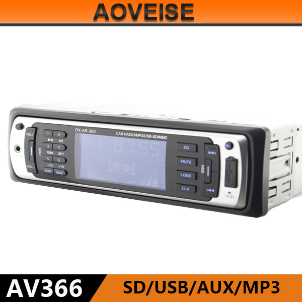 AOVEISE AV366 high power detachable panel car usb radio player with fm am receiver bluetooth.aux input car autoradio audio mp3