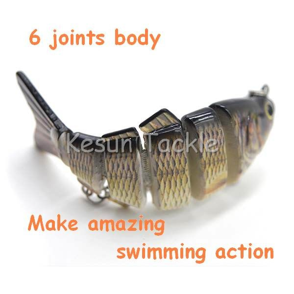 multi joint lure Forked-Tail Baitfish 6 joint baitfish hard lure